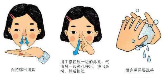 擤鼻涕方式不正确易引发中耳炎